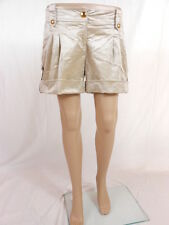 P29 SHINY SEXY SILKY SEXY SHORTS HOT PANTS GOLD BUTTON PRIVATE SZ.12-14 LOOK
