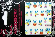 Ostern Water Nail Sticker Tatoo gespiegelt Easter Nr. 8