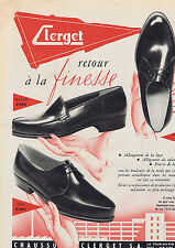 PUBLICITE ADVERTISING 094 1956 CLERGET chaussures pour hommes