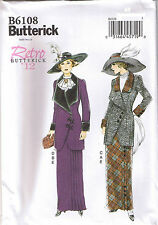 Vintage Early 1900s 20th Century Jacket Bib Skirt Sewing Pattern Sz 6 8 10 12 14