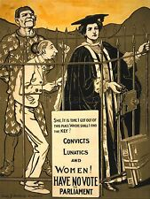 PROPAGANDA SEX EQUALITY WOMEN SUFFRAGE VOTE FRANCHISE ART POSTER PRINT LV7026