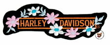HARLEY DAVIDSON LADIES VEST PATCH WITH FLOWERS ** RETIRED DESIGN ** AUTHENTIC