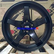 XXR 555 Wheels 18 x 8.5 Flat Black Deep Dish Lip +35 Concave Rims 5x100 5 Spokes