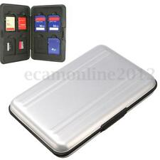 Aluminum 8 Grid Micro SD SDHC Memory Card Storage Carrying Case Holder Protector