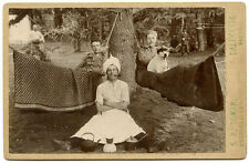 c1890s, HILL STATION HUMOUR, men in hammocks, dog in hat, ORIGINAL photo, INDIA!