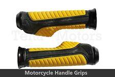 2x Motorino Motocicletta Maniglie Manubri Manopole Universale 22mm/25mm Giallo