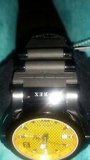 Renato T-Rex Black Stainless,NEW!Yellow Carbon Fiber GMT,Diver Watch Quartz Sale