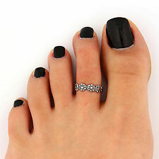 Women Girls Retro Vintage Pinky Finger Joint knuckle stacking tail punk Toe Ring