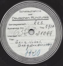 Reichsrundfunk Platte 1936 RRG : Gongwirbel und Gongstundenschlag