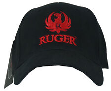 Licensed RUGER 3D Red Eagle Logo Embroidered L/XL Fitted Hat Cap NEW