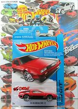 Hot Wheels 2014 #33 '81 Delorean DMC-12 RED,VARIANT BLISTER,INTL