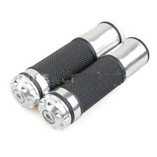 Brushed Aluminum Grips Grip Set SCOOTER CF-Moto 250cc w/ Simulated Bar End