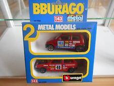 Bburago burago 2-pack Fiat in Red in Box (1)