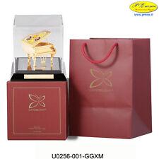 GRANPIANO CON BOX TRASPARENTE 24K GOLD PLATED CRYSTOCRAFT BOMBONIERE DI LUSSO