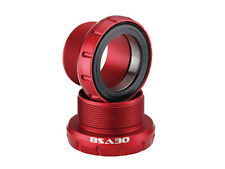 Bottom Bracket Cycling BB for BSA frame to fit 30mm crank BSA30 Red