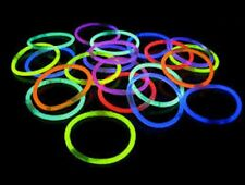 Glow in the Dark 72 Bracelets Party Jewellery Neon Sticks Rave Night Club Disco