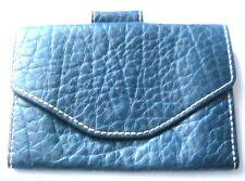FRENCH DESIGNER 1970s WAIST BELT POUCH BAG WALLET - BLUE DEERSKIN LEATHER - NEW