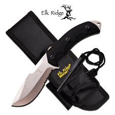 KNIFE COLTELLO DA CACCIA ELK RIDGE PRO 537 SURVIVOR CON ACCIARINO FUOCO SURVIVAL