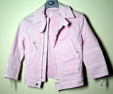 Girl's Pink Denim Style Jacket - Small 10-11 year old - Size 38