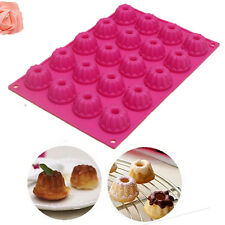 20-Cavity Mini Fancy Bundt Savarin Cake Pan Silicone Mold Baking chiffon Mould