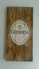 Guinness irish stout plaque wooden sign mancave shed bar pub