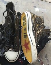 Converse X John Varvatos CT Double Zip Hi Black Turtle Sz 7 NIB All Star
