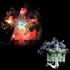 Xmas Christmas Tree Topper Star Light Party Color Changing LED Lamp Decoration
