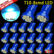 20 X ICE Blue T10 194 Interior/License Plate & Dash SMD LED Light Bulbs 2015 NEW