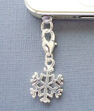 SNOWFLAKE cell phone Charm Anti Dust proof Plug cap ear jack For iPhone C103