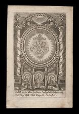 santino incisione 1700 SS.ANNA E GIOACCHINO CON MARIA SANTISSIMA