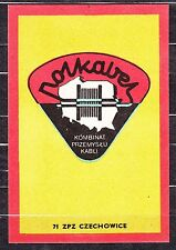 POLAND 1971 Matchbox Label - Cat.G#233 POLKABEL - Combine Cable Industry.