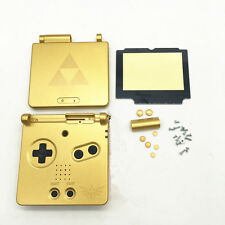 D Gold Limited Housing Shell Case Cover+Screen Len for Gameboy Advance SP GBA SP