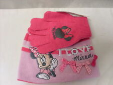 MINNIE MOUSE HAT AND GLOVES   PINK   NEW