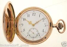 IWC TASCHENUHR IN 14ct ROTGOLD  von ca.1898 - BESTES WERK 4 VERSCHRAUBTE CHATONS