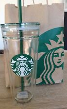 NEW Starbucks Double-walled GLASS Cold Cup Tumbler Mug 20 fl oz
