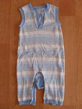 Baby boy Mothercare fine knit striped sleeveless all in one, size 3-6 months