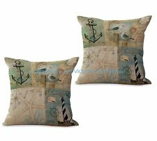 US SELLER-set of 2 Sea covers for life marine light house anchor cushion cover
