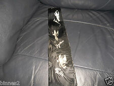 THE BEATLES SILOUETTES SIGNATURES BLACK NECK TIE HAND MADE 100% PURE SILK ACE !