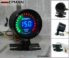 "RACING 52mm 2"" DIGITAL ANALOG LED WATER TEMP GAUGE METER WITH SENSOR"
