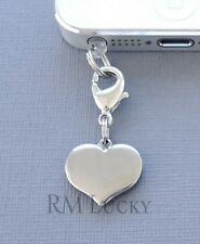 ONE Heart cell phone Charm Dust proof  Plug ear jack For iPhone smartphone C20