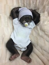 Reborn Baby Gorilla Monkey  So Lifelike OOAK Art Doll GREAT CHRISTMAS GIFT