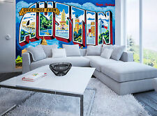 Greetings from Austin Wall Mural Photo Wallpaper GIANT DECOR Paper Poster