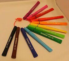 Stabilo Cappi Fibre pointe stylos couleurs idéal grip dyspraxia dyslexie porte-monnaie 12