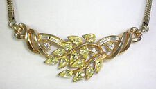 CROWN TRIFARI ALFRED PHILIPPE 1954 PAT PEND 173380 LtYellow Rhinestone Necklace