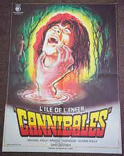 Affiche de cinéma : L'ILE DE L'ENFER - CANNIBALES de SAM GARDNER
