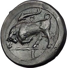 SYRACUSE in SICILY 317BC Agathokles Nymph Bull Genuine Ancient Greek Coin i55461