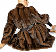 Nerzmantel Nerz Mantel Pelz Pelzjacke mink fur coat jacket Brown soft Braun Fell