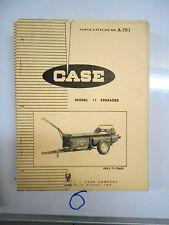 Case Model 75 Spreader Parts Catalog No. A751