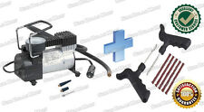 12V Electric Car Metal Air Compressor Pump Tyre Inflator + Puncture Repair Kit