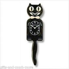 Kitty Kit-Cat Clock reloj Black Classic el original de EE. UU. en negro nuevo